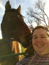 Me with the horse two days later :).